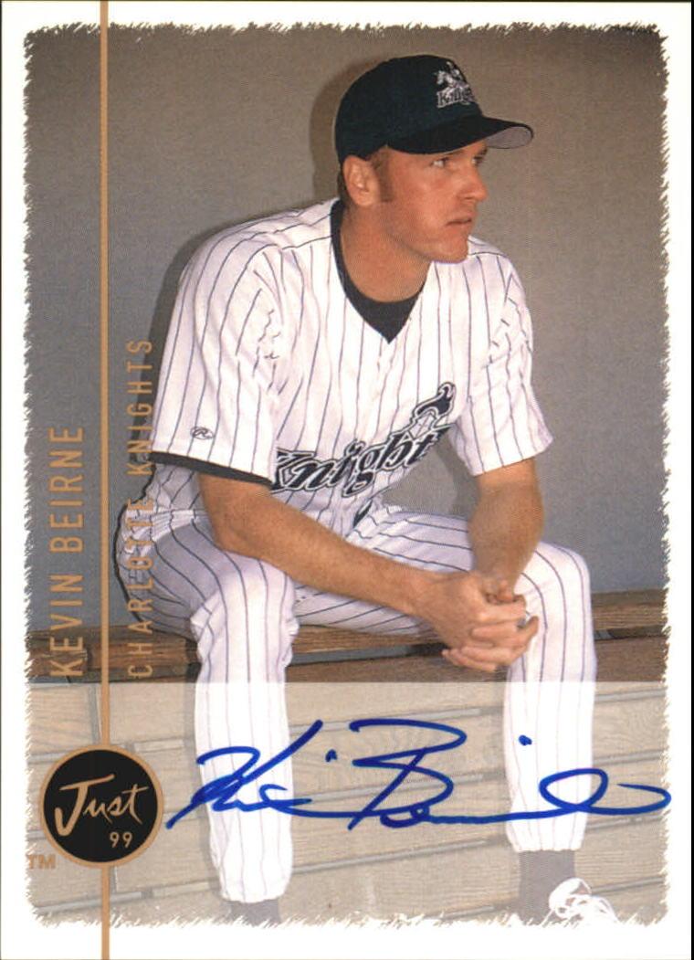 1999 Just Autographs #15 Kevin Beirne IM