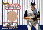 1999 Bowman's Best Rookie Locker Room Game Used Bats #RB3 Troy Glaus