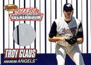 1999 Bowman's Best Rookie Locker Room Game Worn Jerseys #RJ3 Troy Glaus