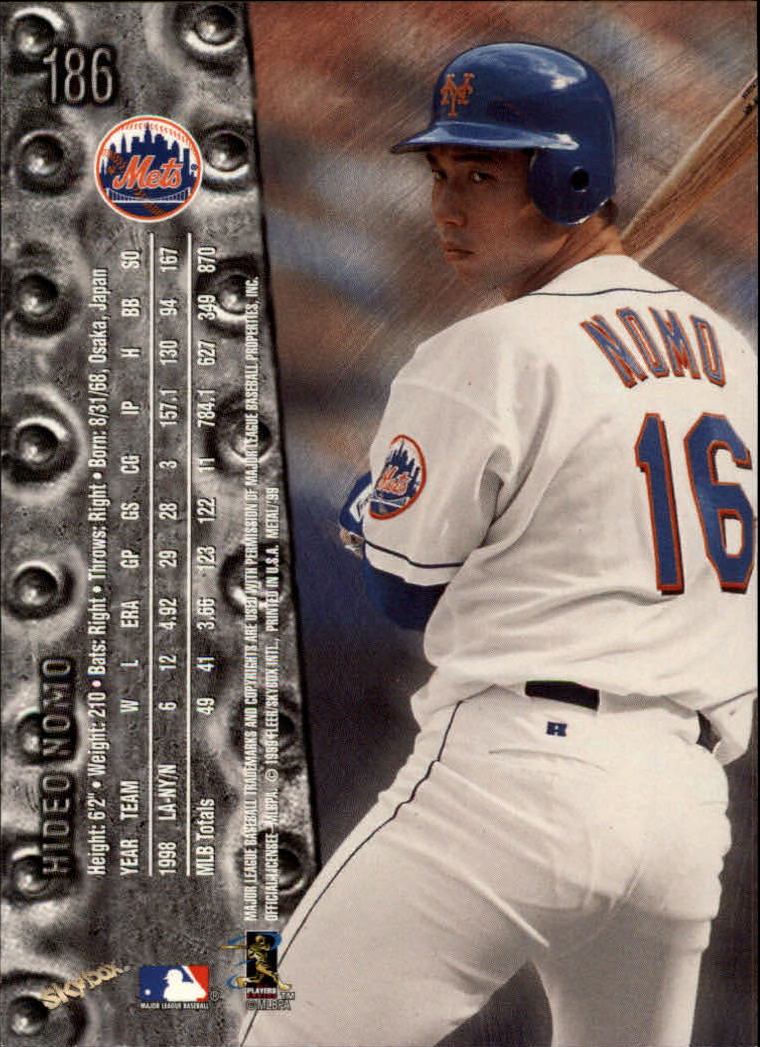 1999 Metal Universe #186 Hideo Nomo back image