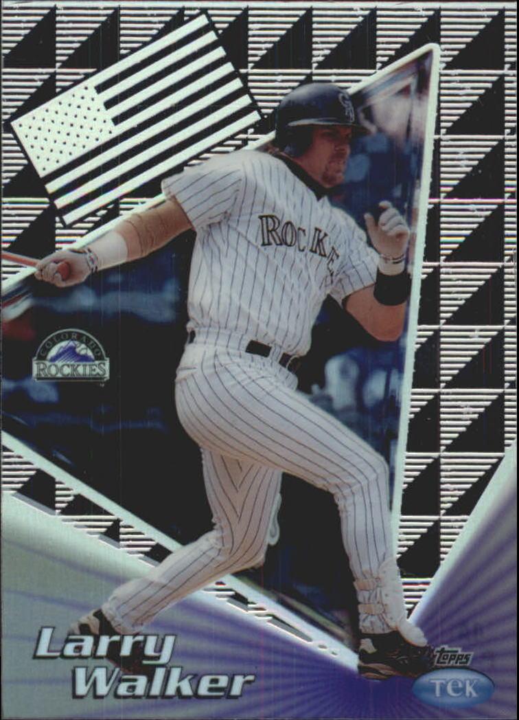1999 Topps Tek Gold Pattern 1 #4A Larry Walker