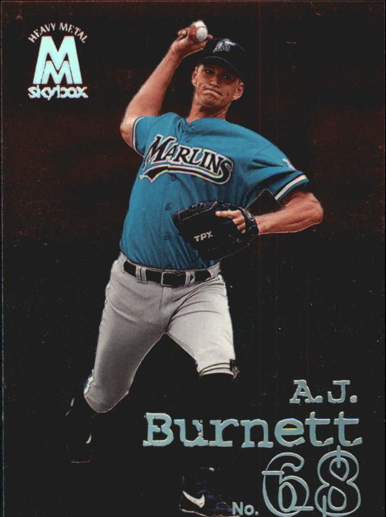 1999 SkyBox Molten Metal #114 A.J. Burnett HM RC