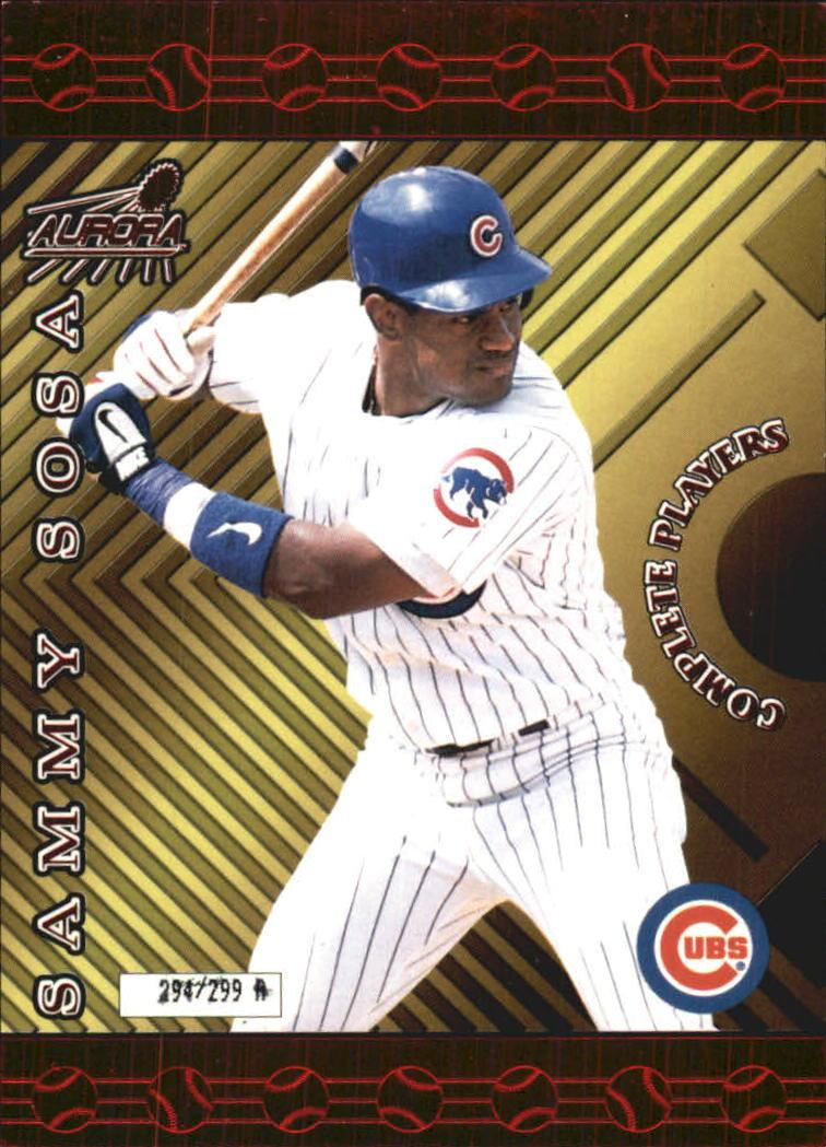 1999 Aurora Complete Players #3A Sammy Sosa