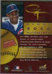 1999 Aurora Complete Players #3B Sammy Sosa back image