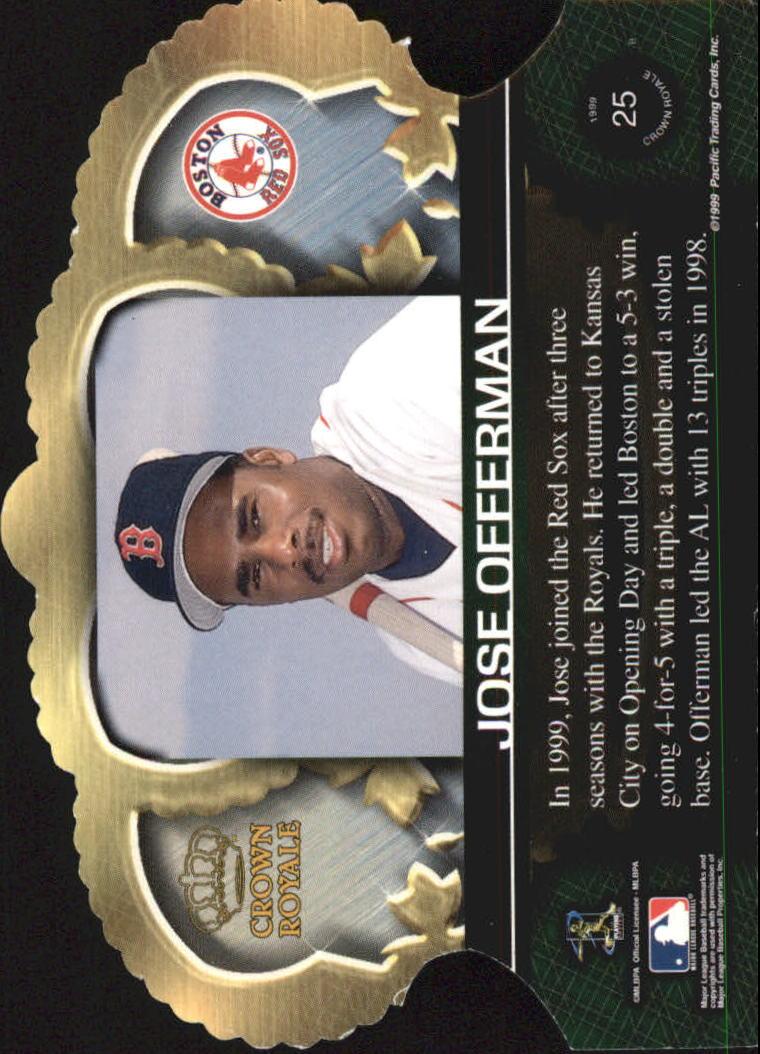1999 Crown Royale #25 Jose Offerman back image