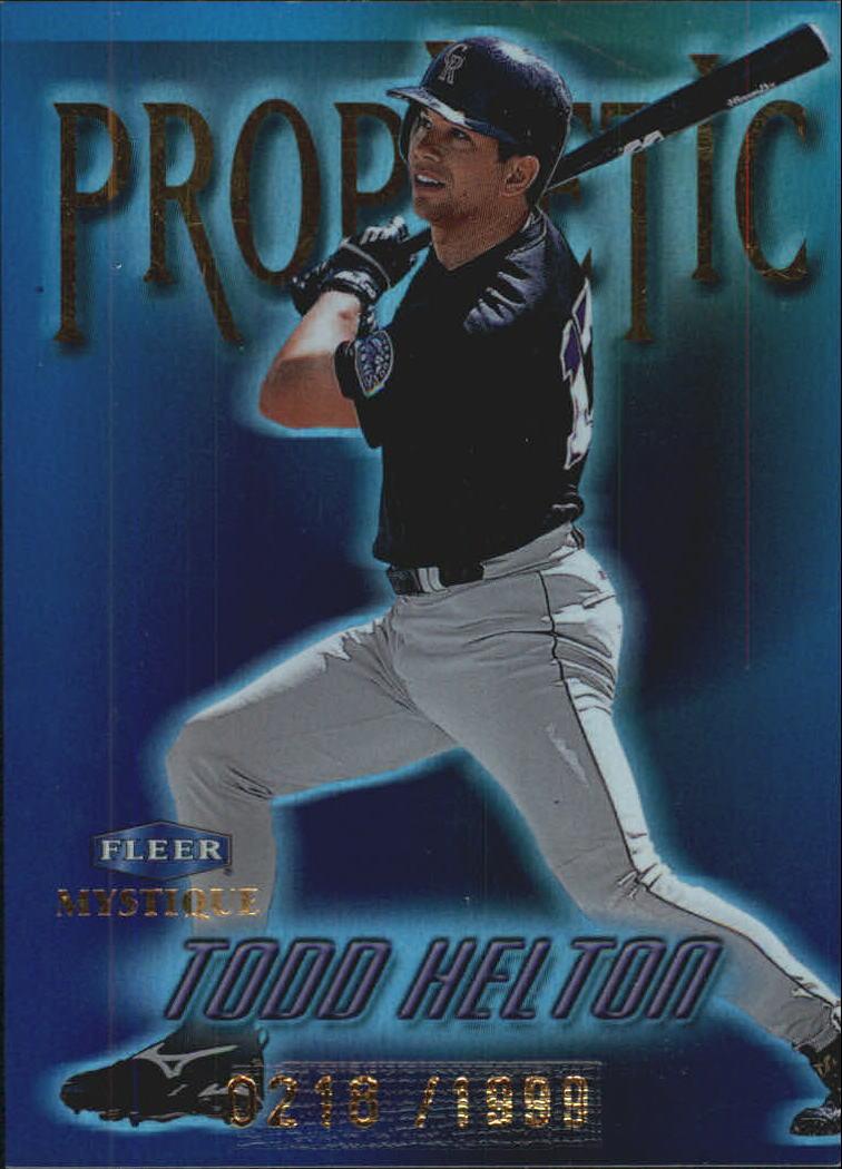 1999 Fleer Mystique Prophetic #6 Todd Helton