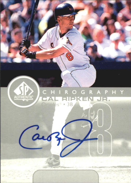 1999 SP Authentic Chirography #CR Cal Ripken
