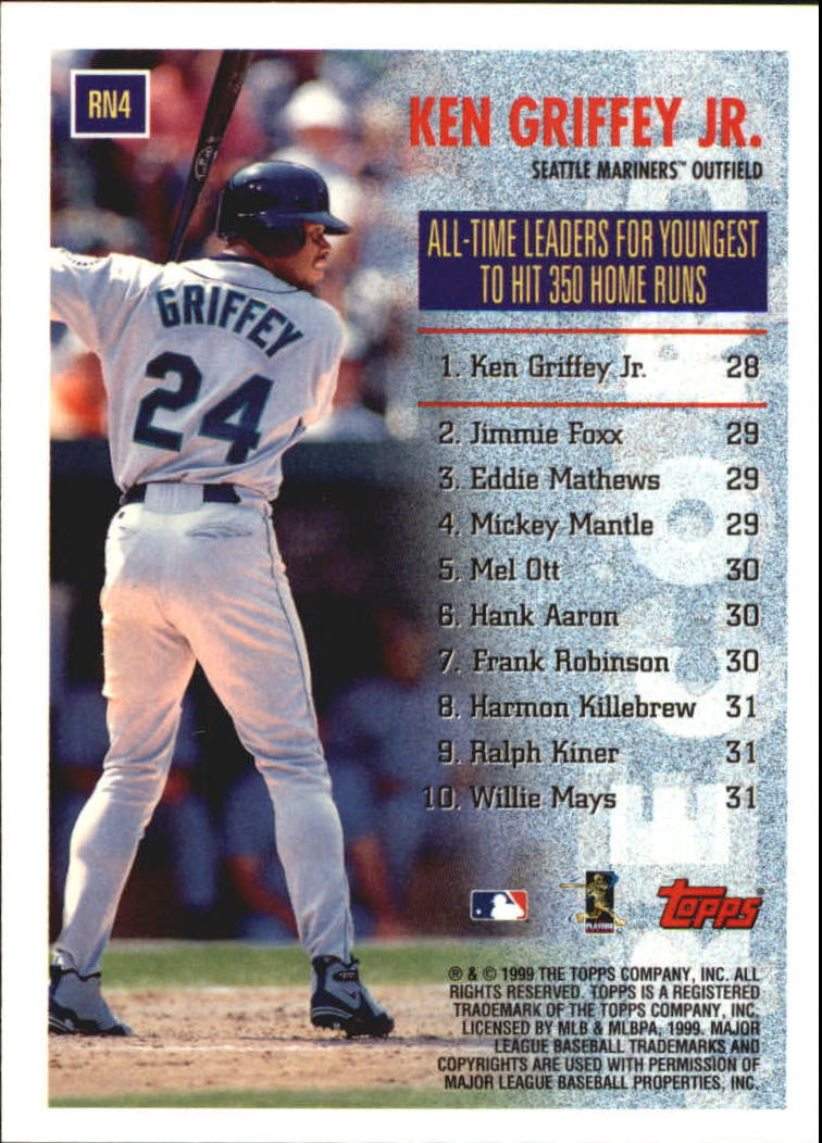 1999 Topps Record Numbers #RN4 Ken Griffey Jr. back image