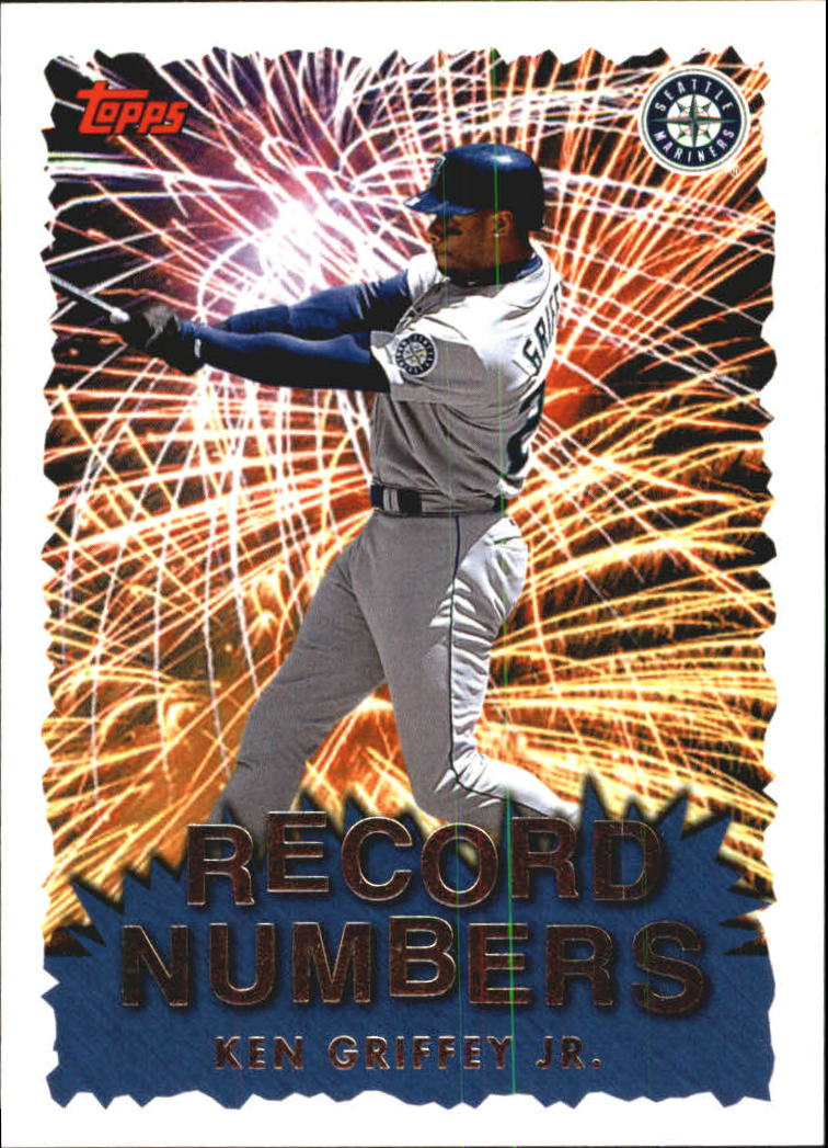 1999 Topps Record Numbers #RN4 Ken Griffey Jr.