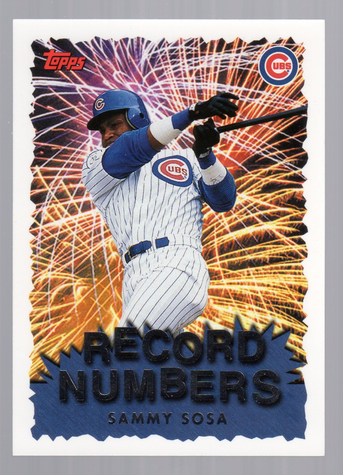 1999 Topps Record Numbers #RN5 Sammy Sosa