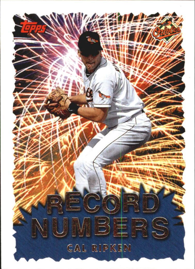 1999 Topps Record Numbers #RN9 Cal Ripken