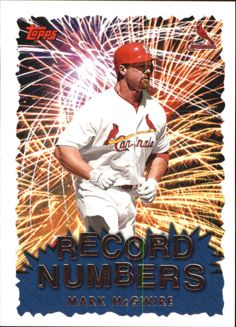 1999 Topps Record Numbers #RN10 Mark McGwire