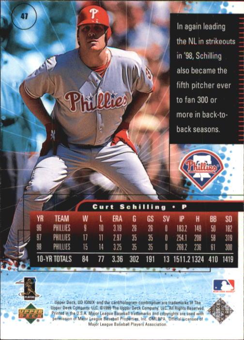 1999 UD Ionix #47 Curt Schilling back image