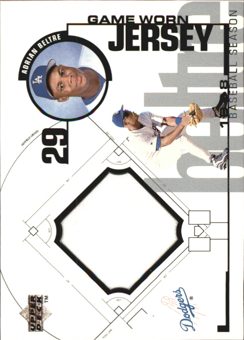 1999 Upper Deck Game Jersey #AB Adrian Beltre H1
