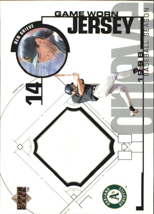 1999 Upper Deck Game Jersey #BG Ben Grieve H1