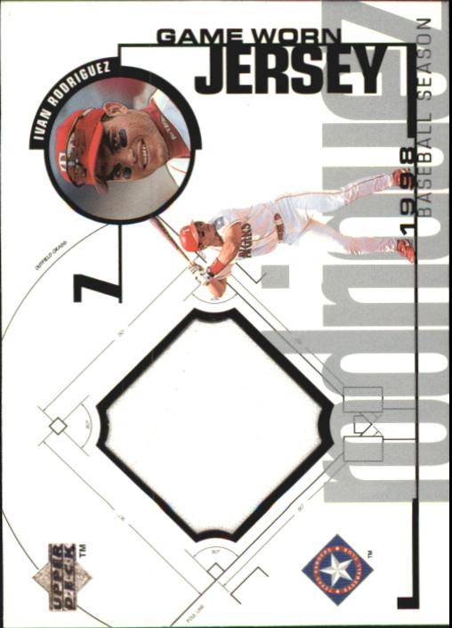 1999 Upper Deck Game Jersey #IR Ivan Rodriguez H1