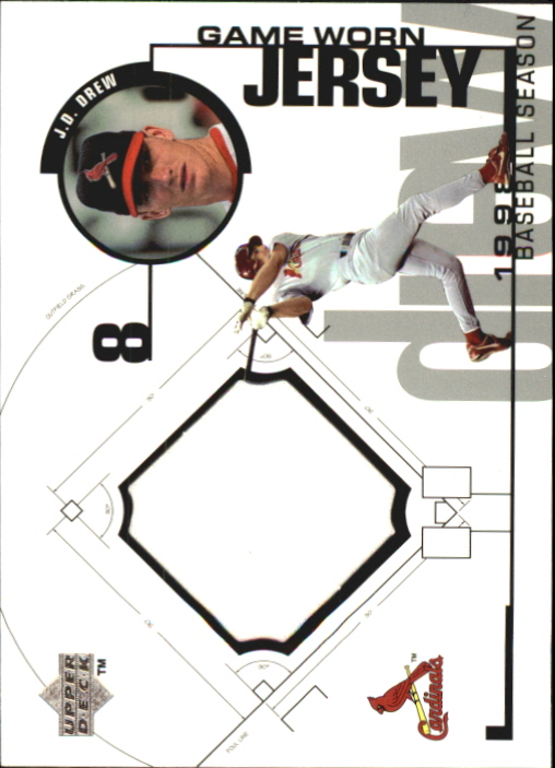 1999 Upper Deck Game Jersey #JD J.D. Drew H2