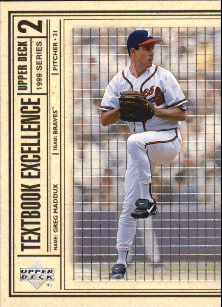 1999 Upper Deck Textbook Excellence #T2 Greg Maddux