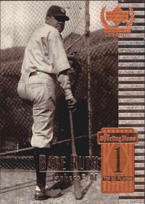 1999 Upper Deck Century Legends #1 Babe Ruth