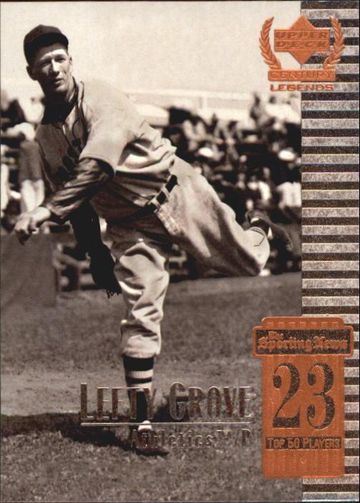 1999 Upper Deck Century Legends #23 Lefty Grove