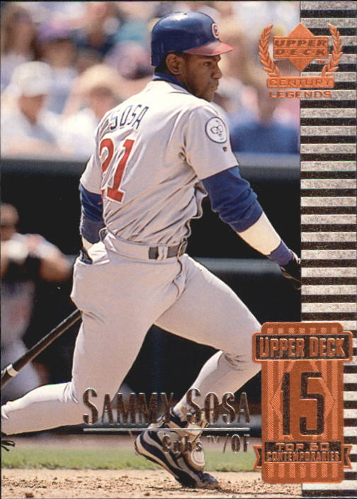 1999 Upper Deck Century Legends #65 Sammy Sosa