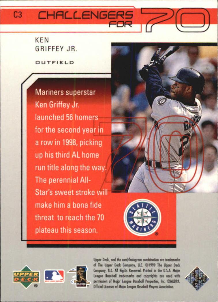 1999 Upper Deck Challengers for 70 Challengers Inserts #C3 Ken Griffey Jr. back image