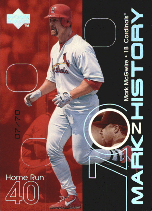 1999 Upper Deck Challengers for 70 Mark on History Parallel #M9 Mark McGwire 40