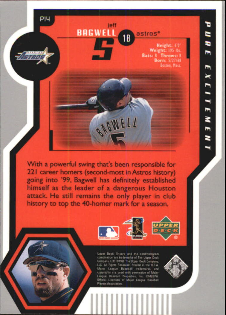 1999 Upper Deck Encore Pure Excitement #P14 Jeff Bagwell back image