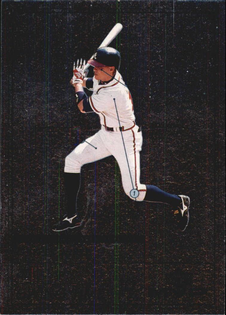 1999 Upper Deck MVP Swing Time #S9 Chipper Jones