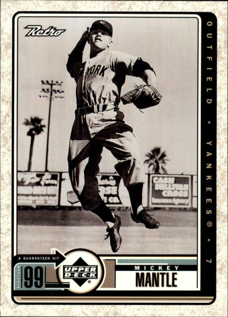1999 Upper Deck Retro #98 Mickey Mantle