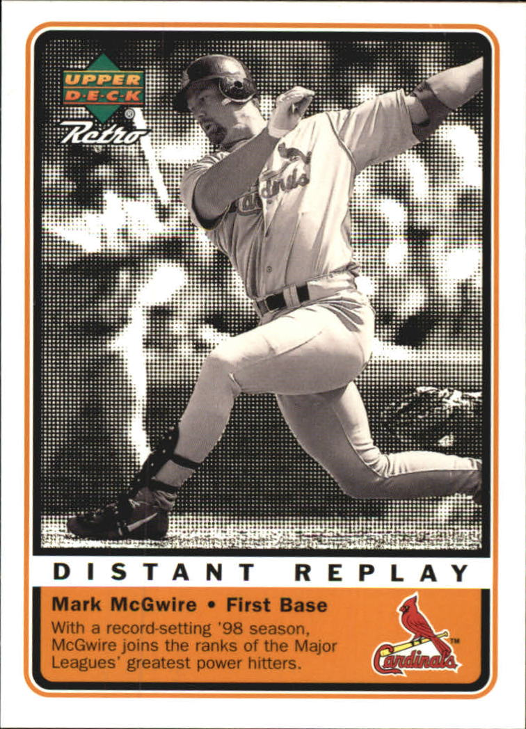 1999 Upper Deck Retro Distant Replay #D2 Mark McGwire