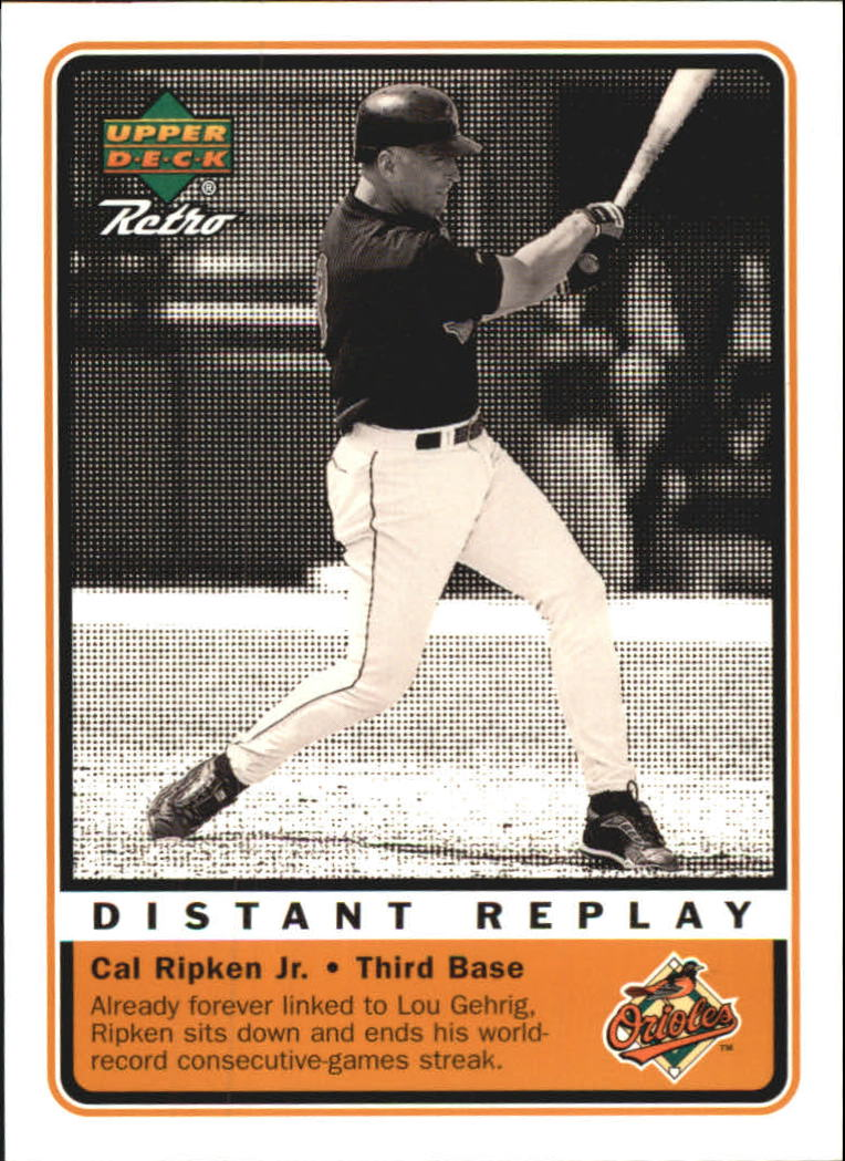 1999 Upper Deck Retro Distant Replay #D3 Cal Ripken