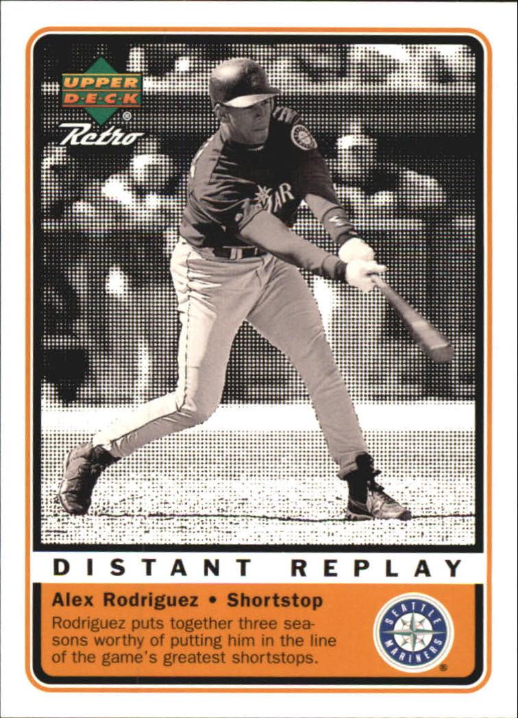 1999 Upper Deck Retro Distant Replay #D7 Alex Rodriguez