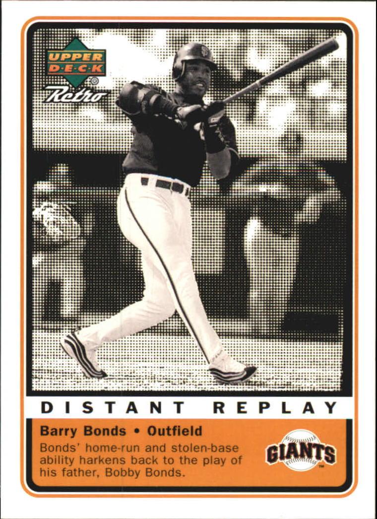 1999 Upper Deck Retro Distant Replay #D13 Barry Bonds