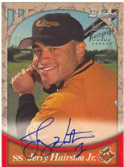 1999 Bowman Autographs #BA5 Jerry Hairston Jr. S