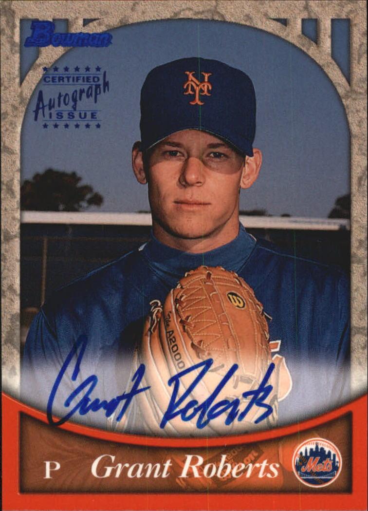 1999 Bowman Autographs #BA10 Grant Roberts B