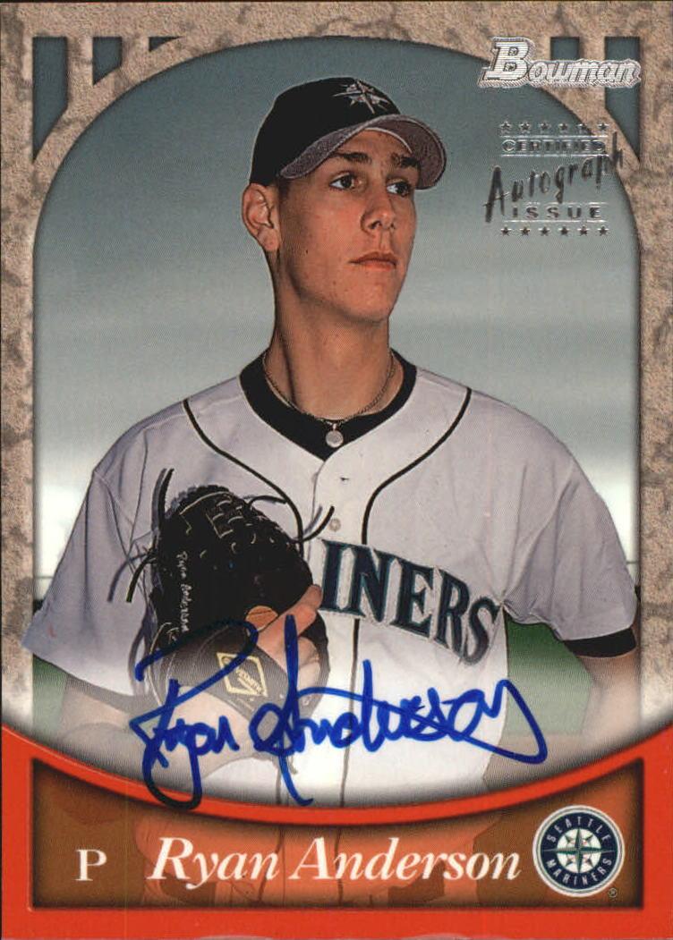 1999 Bowman Autographs #BA12 Ryan Anderson S