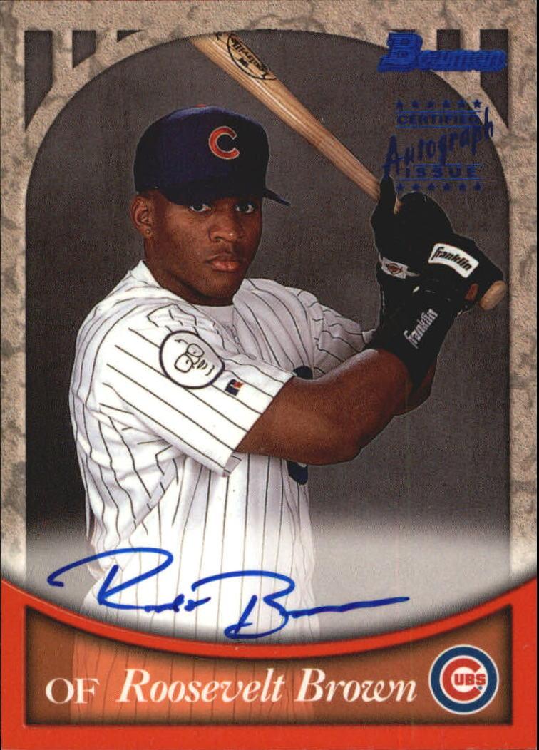 1999 Bowman Autographs #BA21 Roosevelt Brown B