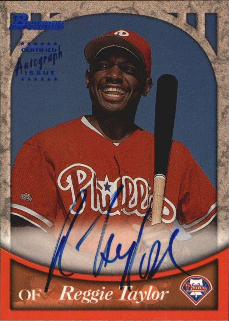 1999 Bowman Autographs #BA33 Reggie Taylor B