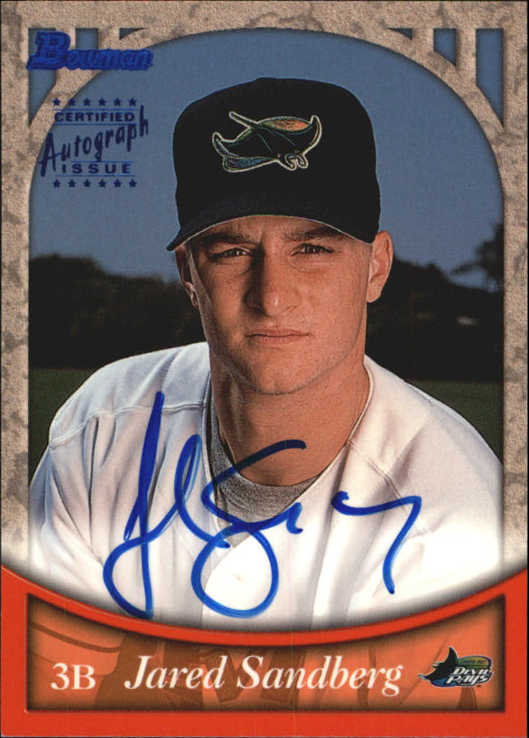 1999 Bowman Autographs #BA57 Jared Sandberg B