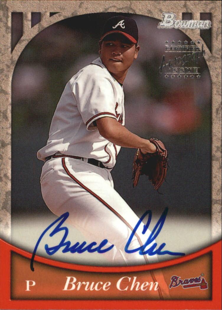 1999 Bowman Autographs #BA62 Bruce Chen S