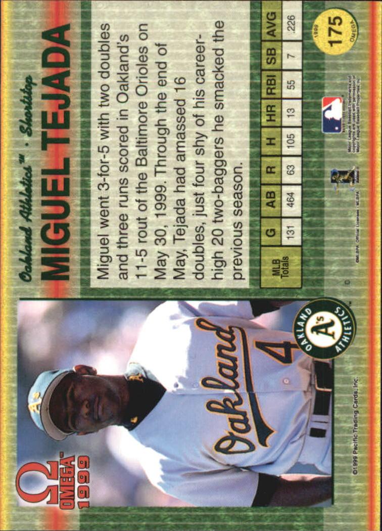 1999 Pacific Omega #175 Miguel Tejada back image