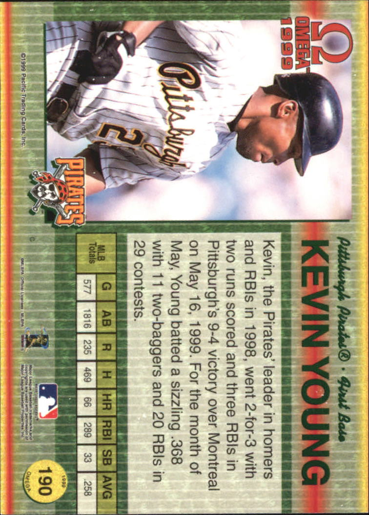 1999 Pacific Omega Gold #190 Kevin Young back image