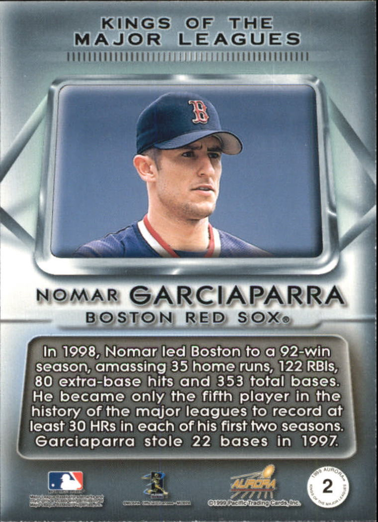 1999 Aurora Kings of the Major Leagues #2 Nomar Garciaparra back image