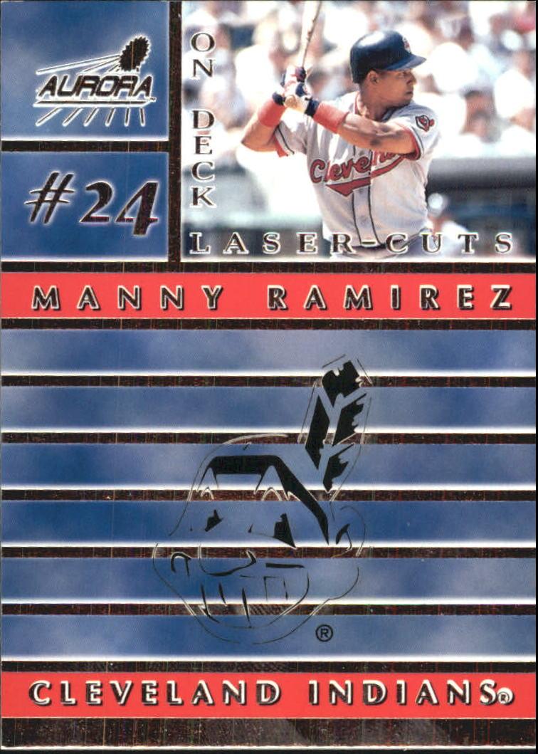 1999 Aurora On Deck Laser-Cuts #6 Manny Ramirez