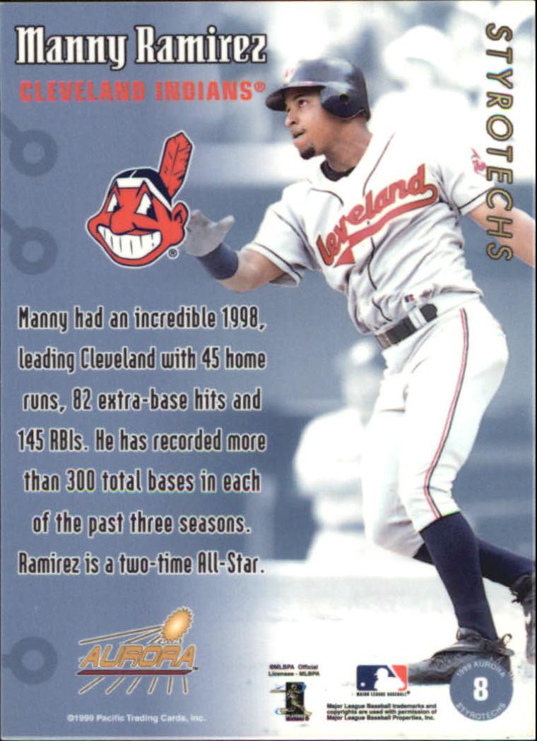 1999 Aurora Styrotechs #8 Manny Ramirez back image