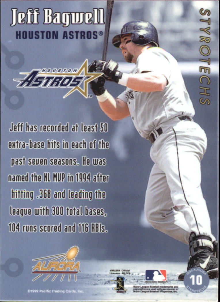 1999 Aurora Styrotechs #10 Jeff Bagwell back image