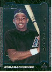 1999 Bowman Chrome #394 Abraham Nunez RC
