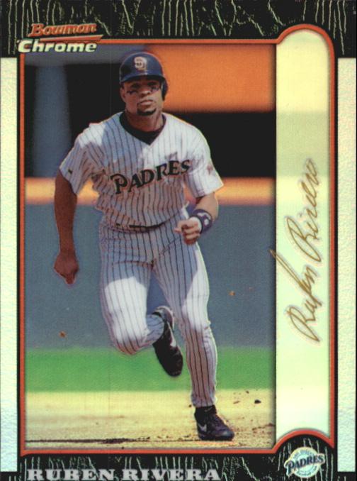 1999 Bowman Chrome Gold Refractors #3 Ruben Rivera