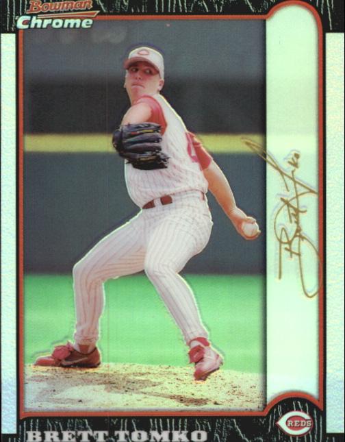 1999 Bowman Chrome Gold Refractors #59 Brett Tomko